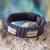 Men's wristband bracelet, 'Song of Africa' - Men's wristband bracelet (image 2) thumbail