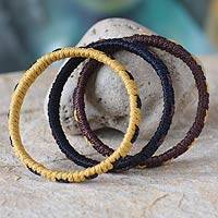 Bangle bracelets, 'Akan Muse' (set of 3) - Bangle bracelets (Set of 3)