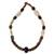 Agate and tiger's eye beaded necklace, 'Eye of the Queen' - Agate and tiger's eye beaded necklace thumbail