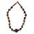 Tiger's eye and bauxite beaded necklace, 'Akan Praise' - Tiger's eye and bauxite beaded necklace thumbail