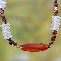 Tiger's eye beaded necklace, 'Love So Sweet' - Tiger's eye beaded necklace