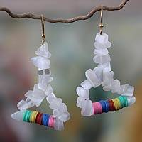 Beaded earrings, 'Adepa' - Beaded earrings