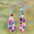 Beaded earrings, 'Obrempon' - Hand Made Agate Earrings from Africa (image 2) thumbail