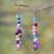 Beaded earrings, 'Obrempon' - Hand Made Agate Earrings from Africa (image 2b) thumbail