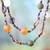 Recycled bead long necklace, 'Lady of Lagos' - Modern Recycled Glass Beaded Necklace (image 2) thumbail
