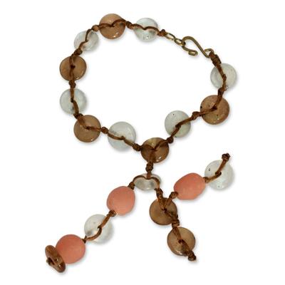 Recycled bead bracelet