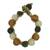 Recycled bead bracelet, 'Summer Fields' - Recycled Glass Beaded Bracelet (image 2a) thumbail