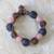 Recycled bead bracelet, 'Peach Allure' - Handcrafted Modern Recycled Glass Beaded Bracelet thumbail