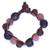 Recycled bead bracelet, 'Peach Allure' - Handcrafted Modern Recycled Glass Beaded Bracelet (image 2a) thumbail