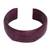 Leather cuff bracelet, 'Dasba in Mauve' - Leather cuff bracelet (image 2a) thumbail