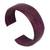 Leather cuff bracelet, 'Dasba in Mauve' - Leather cuff bracelet (image 2b) thumbail