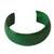 Leather cuff bracelet, 'Annula in Green' - Handcrafted Modern Leather Cuff Bracelet (image 2a) thumbail