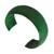 Leather cuff bracelet, 'Annula in Green' - Handcrafted Modern Leather Cuff Bracelet (image 2b) thumbail