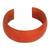 Leather cuff bracelet, 'Annula in Orange' - Leather cuff bracelet (image 2a) thumbail