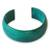 Leather cuff bracelet, 'Annula in Sea Green' - Fair Trade Leather Cuff Bracelet thumbail