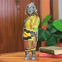 Wood sculpture, 'Ghana Queen Mother' - Wood sculpture