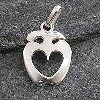 Sterling silver pendant, 'Love Answers All' - Sterling silver pendant