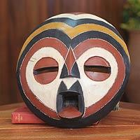 African wood mask, 'Sangaya' - African wood mask