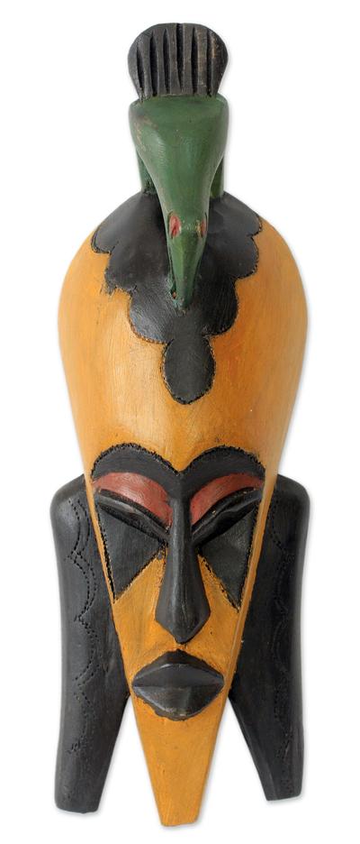Bird Theme African Mask from Ghana
