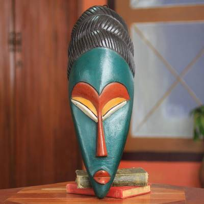 African mask, 'Nimdie' - Handcrafted African Knowledge Mask