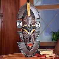 African wood mask, 'Kekewa' - Original African Wood Mask Carved by Hand