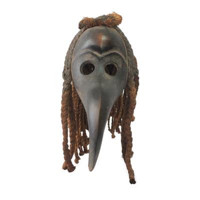 African mask, 'Dan Dark Spirit' - Hand Carved African Mask from Liberia's Dan Tribe