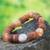 Agate and bauxite beaded bracelet, 'Oheneba' - Agate and bauxite beaded bracelet thumbail