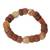 Agate and bauxite beaded bracelet, 'Oheneba' - Agate and bauxite beaded bracelet (image 2a) thumbail