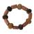 Horn and bauxite beaded bracelet, 'Enapa' - Horn and bauxite beaded bracelet (image 2a) thumbail