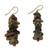 Soapstone beaded earrings, 'Anidaso' - Soapstone beaded earrings (image 2a) thumbail