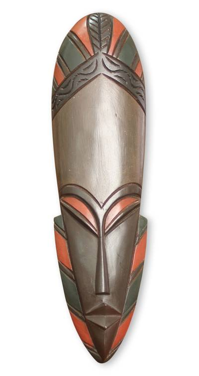 African wood mask, 'Deka' - Hand Made African Tribal Mask