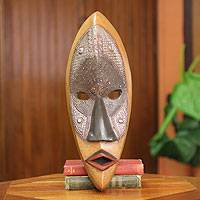 African wood mask, 'Lulua Protector' - African Tribal Mask