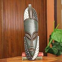 African wood mask, 'Ewuraba' - Hand Carved Original Wall Mask