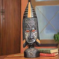 African wood mask, 'Fulani' - African Tribal Mask
