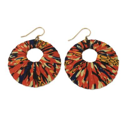 Hand Crafted African Cotton Dangle Earrings