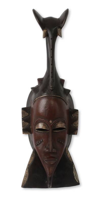 African mask, 'Strength of the Elephant' - Ivoirian Elephant African Mask