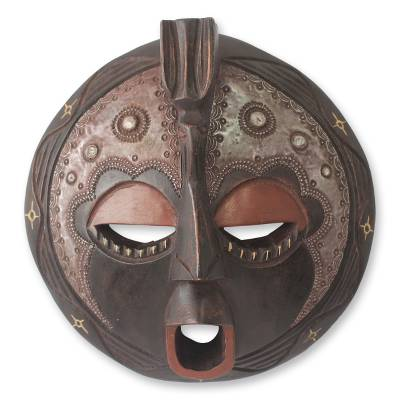 African mask, 'Krobo Bird' - African Puberty Rites Handmade Mask