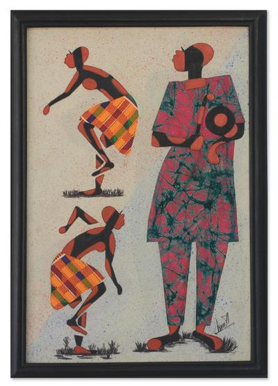 African Batik Framed Art
