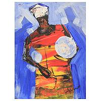 'Music Maker' - African Fine Art Original Painting