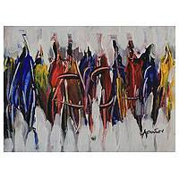 'Parade I' - African Fashion Show Fine Art Painting