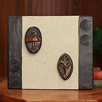 African mask plaque, 'Thank You Gift' - Handcrafted African Masks Wall Plaque