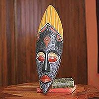 African mask, 'Faithful Father' - Faithful Father Authentic African Mask