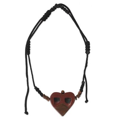 African Mask Necklace for Men