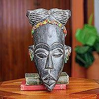 African mask, 'Lovely Lady of Ghana' - Handmade African Mask from Ghana