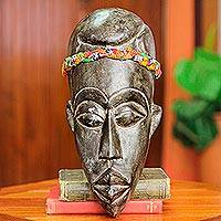 African mask, 'Gentleman of Ghana' - Hand Crafted African Mask from Ghana