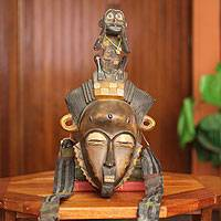 African mask, 'Baule She Monkey'