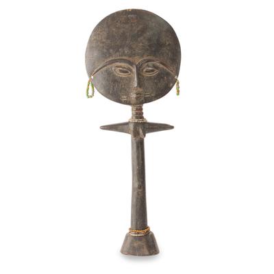 Wood fertility doll, 'Ashanti Mother' - Fertility Doll Sculpture from Africa