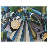 'Good Music' - African Original Painting Signed Fine Art