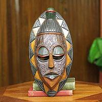 African mask, 'Good Will Gesture' - Ghanaian Ewe Tribe Authentic African Mask