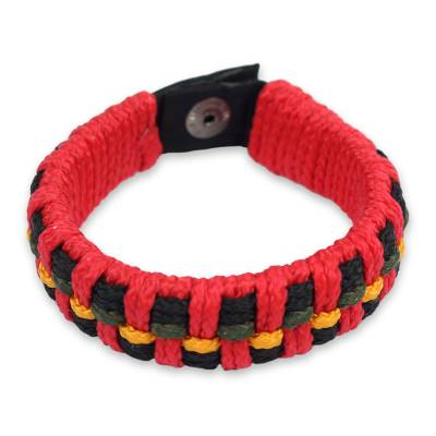 Artisan Crafted Recycled Bracelet for Men